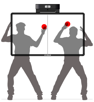 Softboard - duel/team – two-part active area