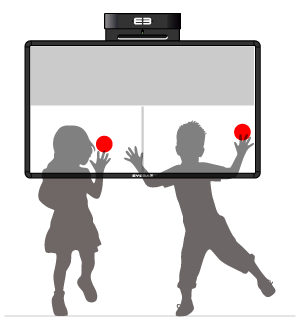 Softboard - duel/team, two-part active area – lower half