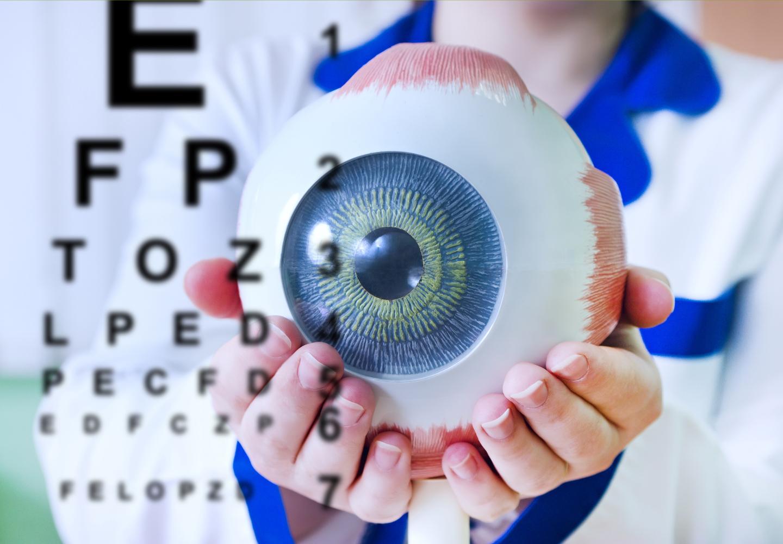 Ophthalmology oculus sample closeup